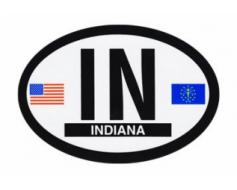 Indiana Oval Sticker