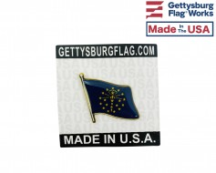 Indiana State Flag Lapel Pin (Single Waving Flag)