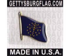 Indiana State Flag Lapel Pin (Single Waving Flag)