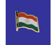 India Lapel Pin (Single Waving Flag)