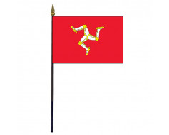 Isle of Man Stick Flag - 4x6""
