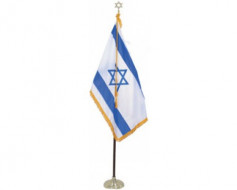Israel Indoor Flag Set