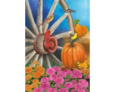 Autumn Wagon Wheel House Banner