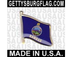 Kansas State Flag Lapel Pin