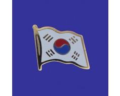 South Korea Lapel Pin (Single Waving Flag)