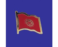 Kyrgyzstan Lapel Pin (Single Waving Flag)