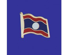 Laos Lapel Pin (Single Waving Flag)