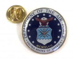 Air Force Seal Lapel Pin (Round Emblem Design)
