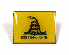 Gadsden Lapel Pin (Single Rectangle Flag)
