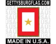 Service 1 Gold Star Lapel Pin (Vertical Rectangle)