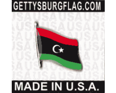 Libya Lapel Pin (Single Waving Flag)