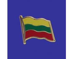 Lithuania Lapel Pin (Single Waving Flag)