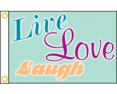 Live, Love, Laugh Flag