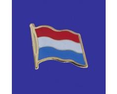 Luxembourg Lapel Pin (Single Waving Flag)
