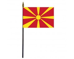 Macedonia Stick Flag - 4x6""