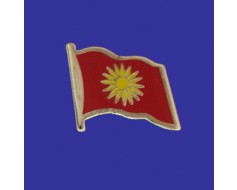 Macedonia Lapel Pin (Single Waving Flag)