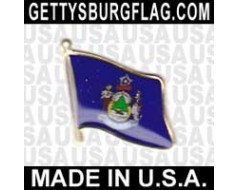 Maine State Flag Lapel Pin