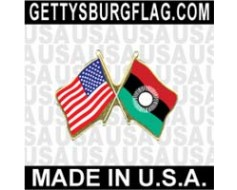 Malawi 2010-2012 Lapel Pin (Double Waving Flag w/USA)