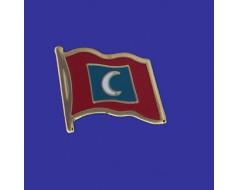 Maldives Lapel Pin (Single Waving Flag)