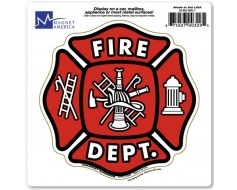 Maltese Cross Fire Department Magnet