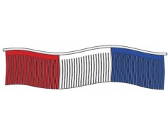 Red/White/Blue Mardi Gras Streamers - 60'