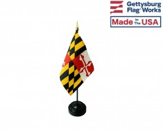 Maryland State Stick Flag - 4x6""
