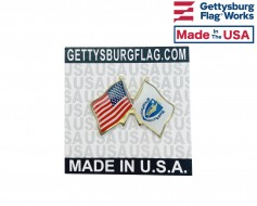 Massachusetts State Flag Lapel Pin (Double Waving Flag w/...