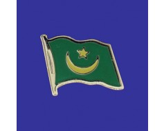 Mauritania Lapel Pin (Single Waving Flag)