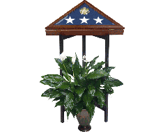 Tri-Column Memorial Case Stand Black
