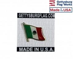 Mexico Lapel Pin (Single Waving Flag)
