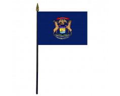 Michigan State Stick Flag