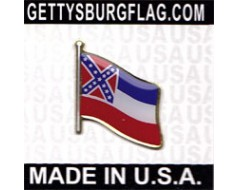 Mississippi State Flag Lapel Pin