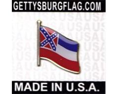 Mississippi State Flag Lapel Pin
