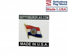 Missouri State Flag Lapel Pin (Single Waving Flag)