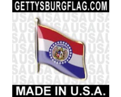 Missouri State Flag Lapel Pin