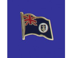 Montserrat Lapel Pin (Single Waving Flag)