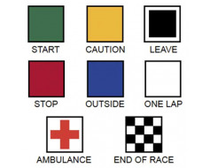 Motorcycle Racing Flag Set