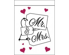 Mr. & Mrs. Name Cards Flag
