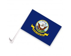 Navy Car Window Flag-12x18""