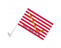 First Navy Jack Car Window Flag