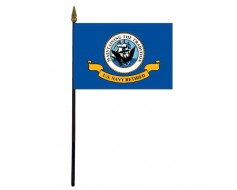 Navy Retired Stick Flag - 4x6""