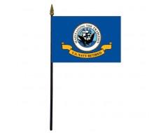 "Navy Retired Stick Flag - 4x6"""