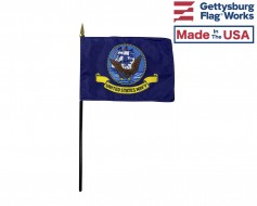 Navy Stick Flag