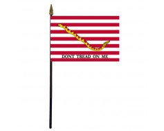 First Navy Jack Stick Flag - 4x6""