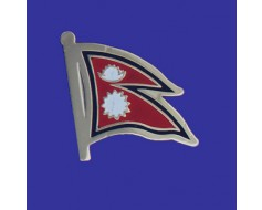 Nepal Lapel Pin (Single Waving Flag)