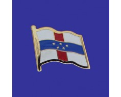 Netherlands Antilles Lapel Pin (Single Waving Flag)