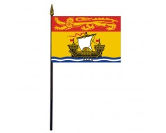 New Brunswick Stick Flag - 4x6""