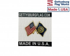 New Hampshire State Flag Lapel Pin (Double Waving Flag w/...