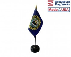 "New Hampshire State Stick Flag - 4x6"""
