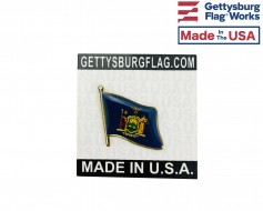 New York State Flag Lapel Pin (Single Waving Flag)